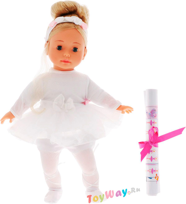 Интерактивная кукла-балерина Bambolina Molly, 40 см.Пупсы<br>Интерактивная кукла-балерина Bambolina Molly, 40 см.<br>
