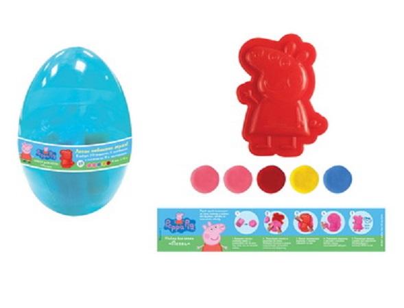 Купить Набор для лепки Пеппа, из серии Свинка Пеппа TM Peppa Pig, упаковка – пластиковое яйцо, Росмэн