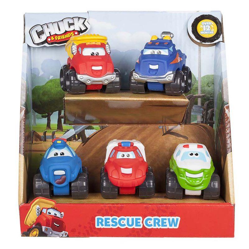 Набор машинок Chuck &amp; Friends - СпасателиМашинки для малышей<br>Набор машинок Chuck &amp; Friends - Спасатели<br>