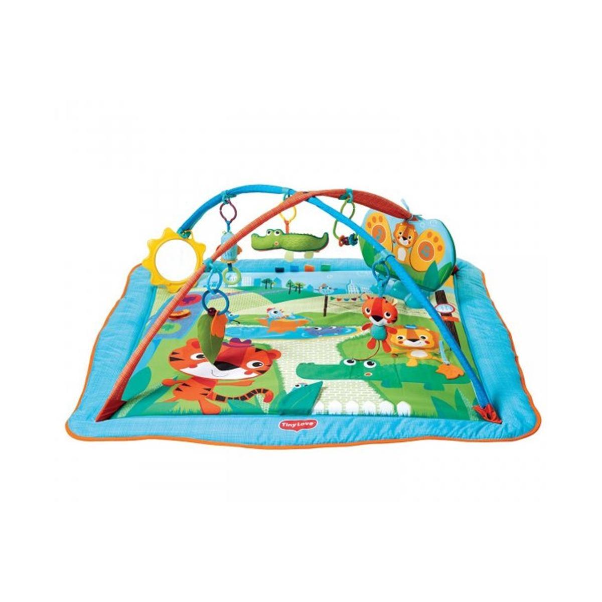 Развивающий коврик Tiny Love Сафари, с музыкальной панельюДетские развивающие коврики для новорожденных<br>Развивающий коврик Tiny Love Сафари, с музыкальной панелью<br>