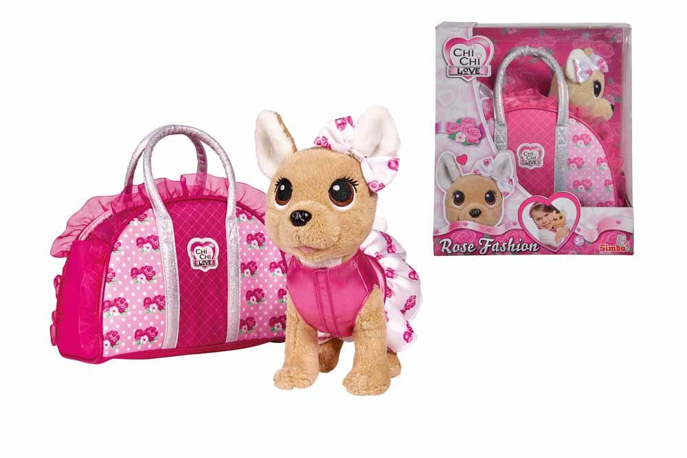 Купить Плюшевая собачка Chi-Chi love - Модная собачка, 20 см, с сумочкой, Simba