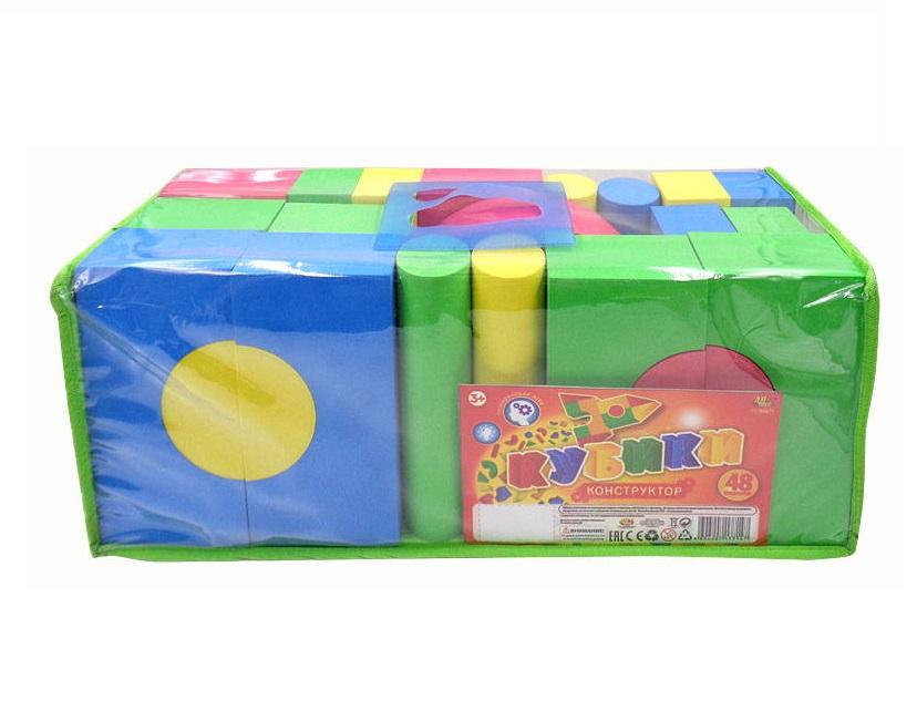 Кубики  Конструктор, 48 предметов, в пакете - Конструкторы Bauer Кроха (для малышей), артикул: 158136