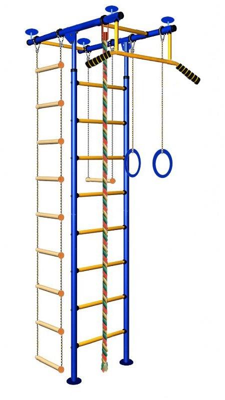 Купить Детский спортивный комплекс Юнга 2.1, желтые перекладины с ПВХ покрытием, Вертикаль