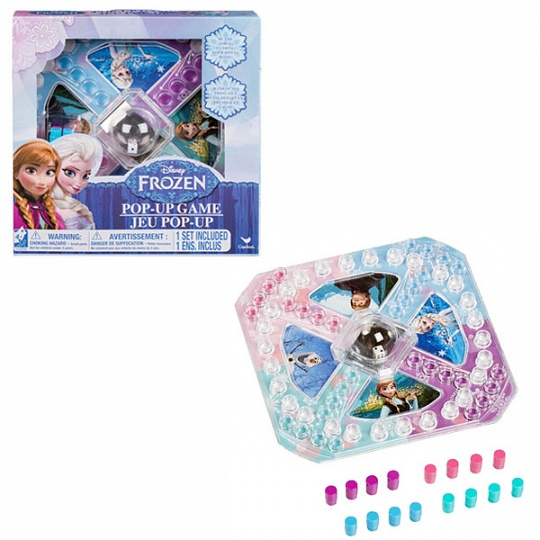 Настольная игра Disney - Холодное Сердце с кубиком и фишкамиИгры для компаний<br>Настольная игра Disney - Холодное Сердце с кубиком и фишками<br>
