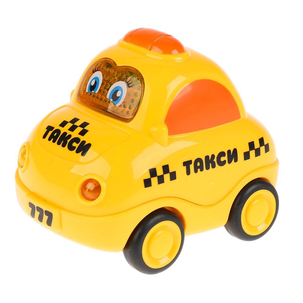 Купить Машина Такси - Музыкальные стихи М. Дружининой, 8 веселых песенок, инерционная, свет и звук, Умка