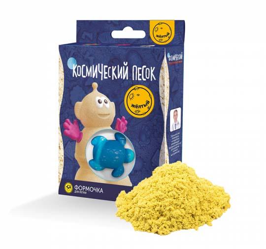 Космический песок и формочка, желтый, 150 гКинетический песок<br>Космический песок и формочка, желтый, 150 г<br>