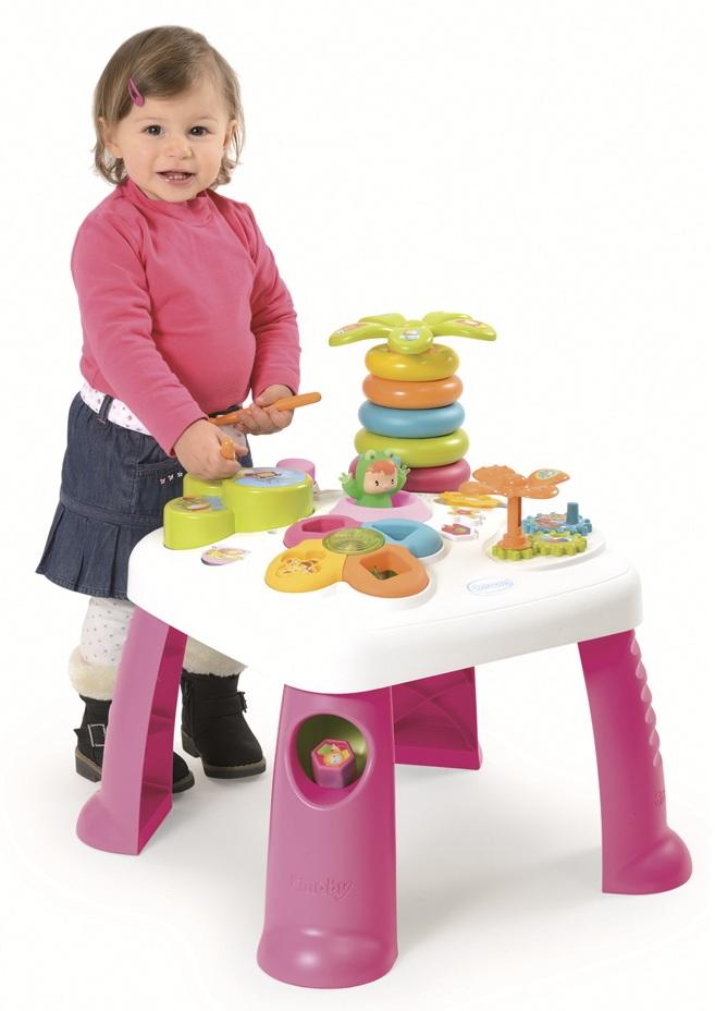 Развивающий игровой стол, розовыйРазвивающие игрушки Smoby Cotoons<br>Развивающий игровой стол, розовый<br>