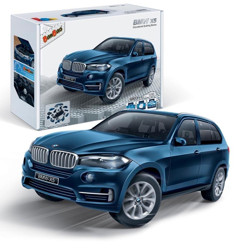 Конструктор - Машина BMW X5, синий, масштаб 1:28Конструкторы BANBAO<br>Конструктор - Машина BMW X5, синий, масштаб 1:28<br>