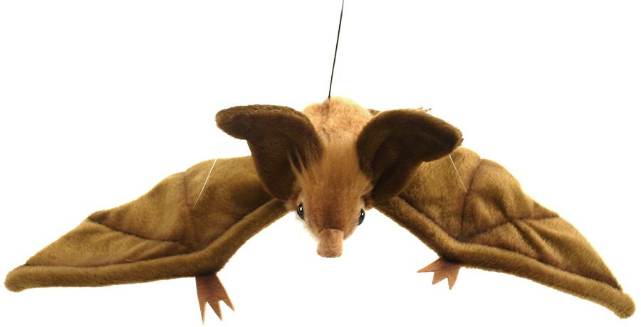 Мягкая игрушка - Коричневая летучая мышь парящая, 37 см (Hansa, 3064МДикие животные<br>Мягкая игрушка - Коричневая летучая мышь парящая, 37 см (Hansa, 3064М<br>