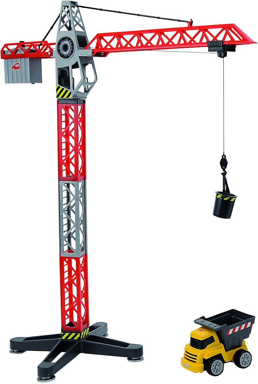Кран башенный 67 см. и самосвалИгрушечные подъемные краны<br>Кран башенный 67 см. и самосвал<br>
