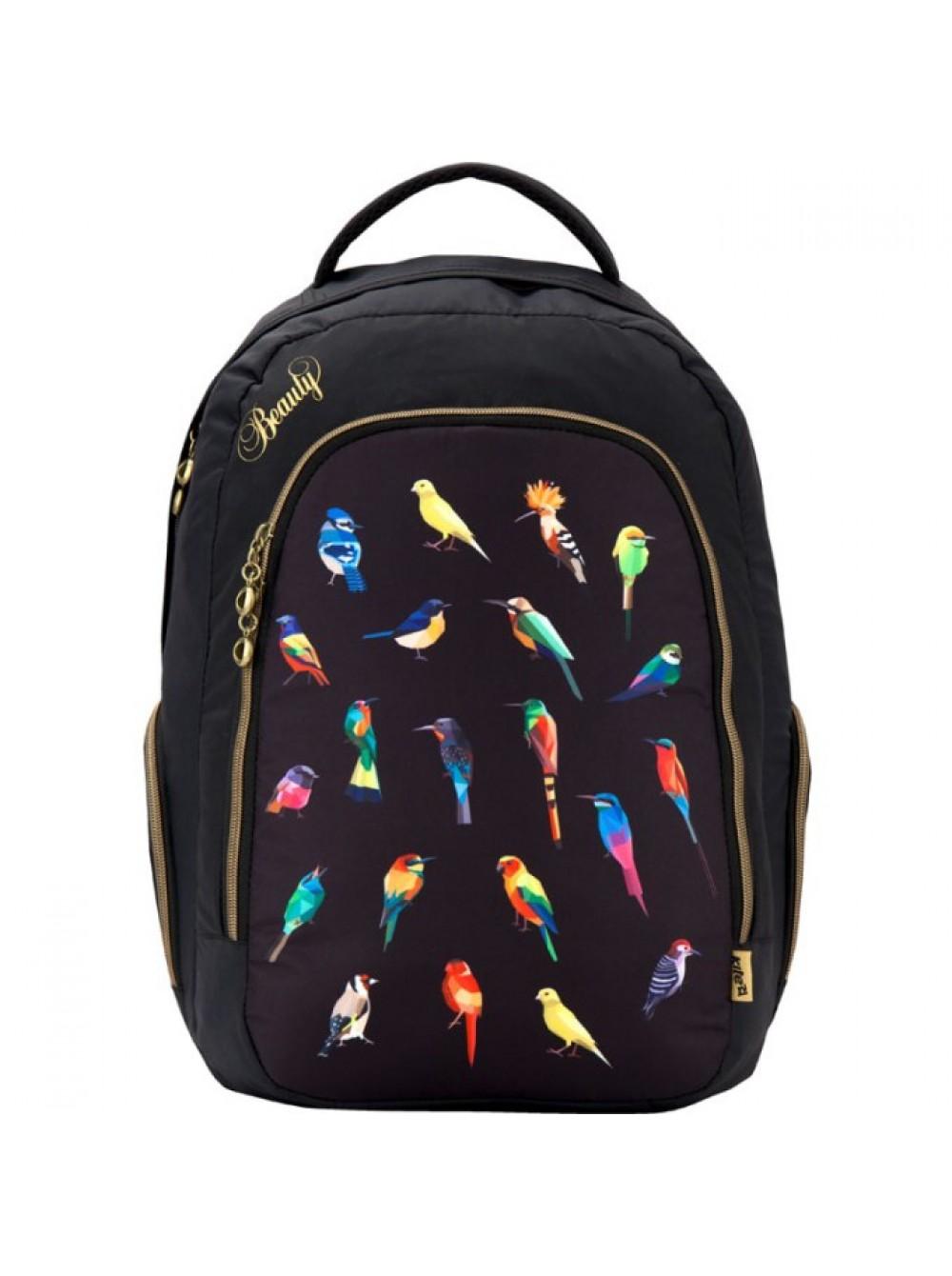 Рюкзак с птичками 951 BeautyШкольные рюкзаки<br>Рюкзак с птичками 951 Beauty<br>