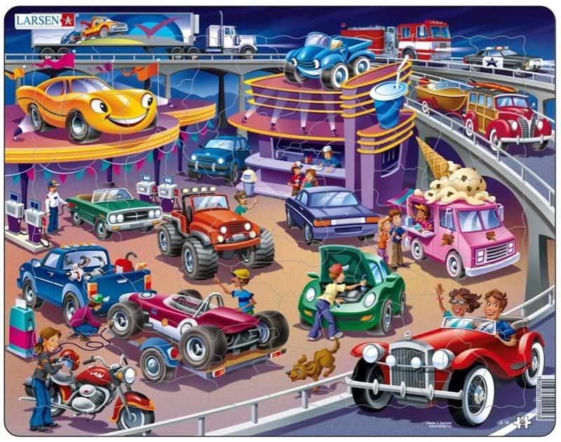 Купить Пазл – Машины, 58 деталей, Larsen