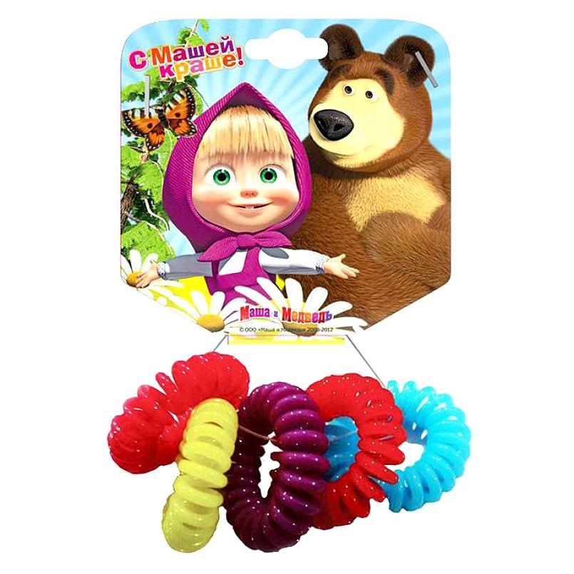 Купить Набор резинок для волос из серии Маша и медведь – Пружинки, 5 шт., Маша и Медведь