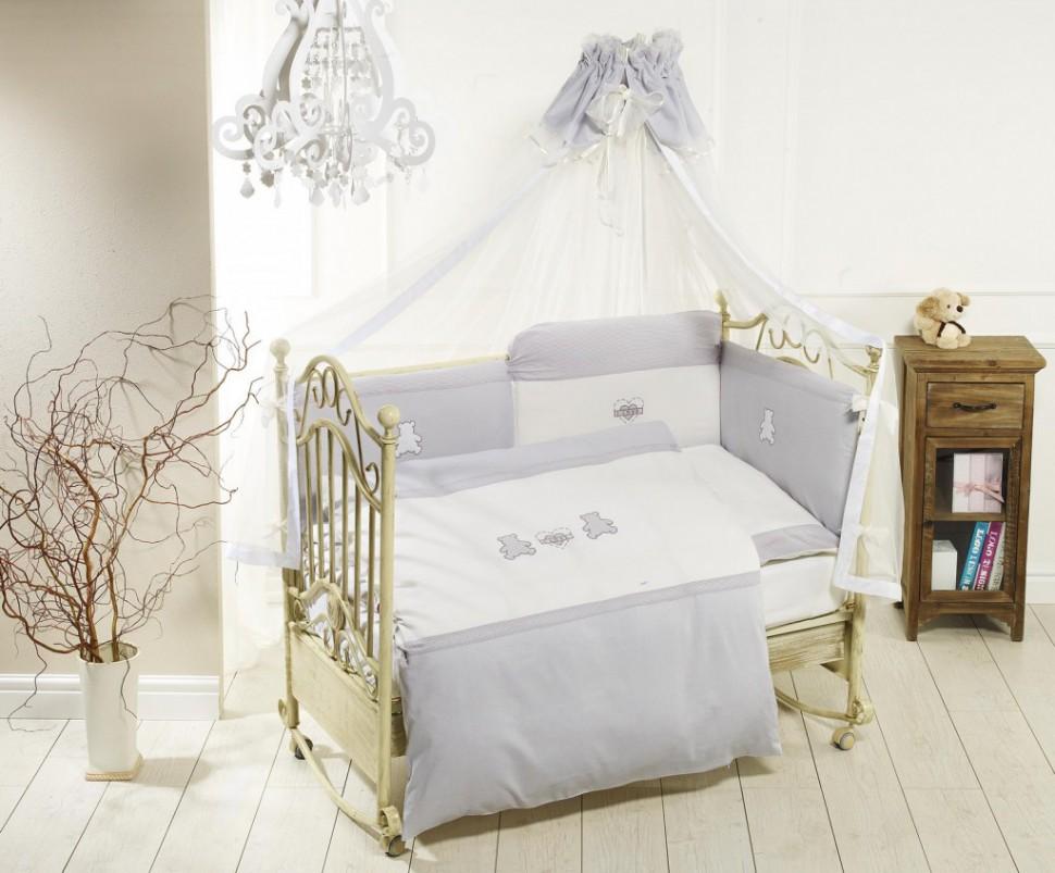 Балдахин - Orsetti, grey/whiteДетское постельное белье<br>Балдахин - Orsetti, grey/white<br>