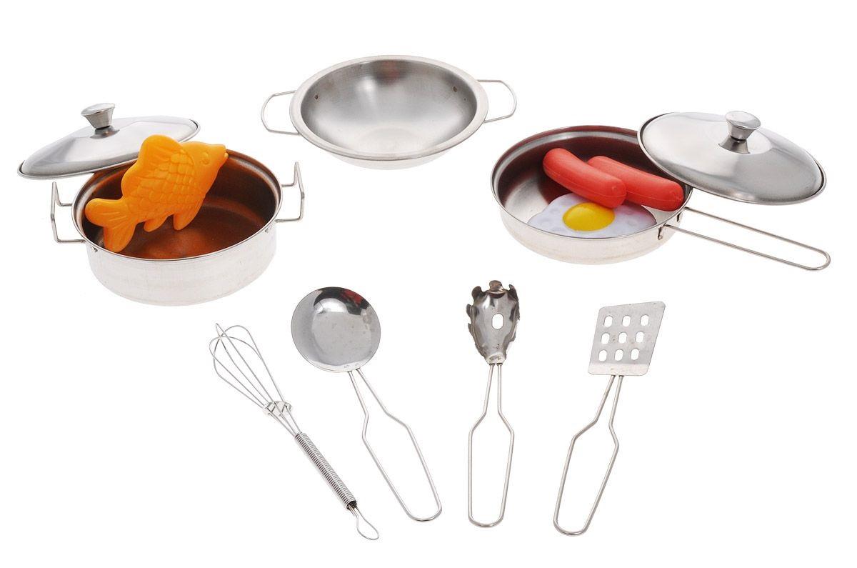 Набор посуды для кухни с продуктамиАксессуары и техника для детской кухни<br>Набор посуды для кухни с продуктами<br>