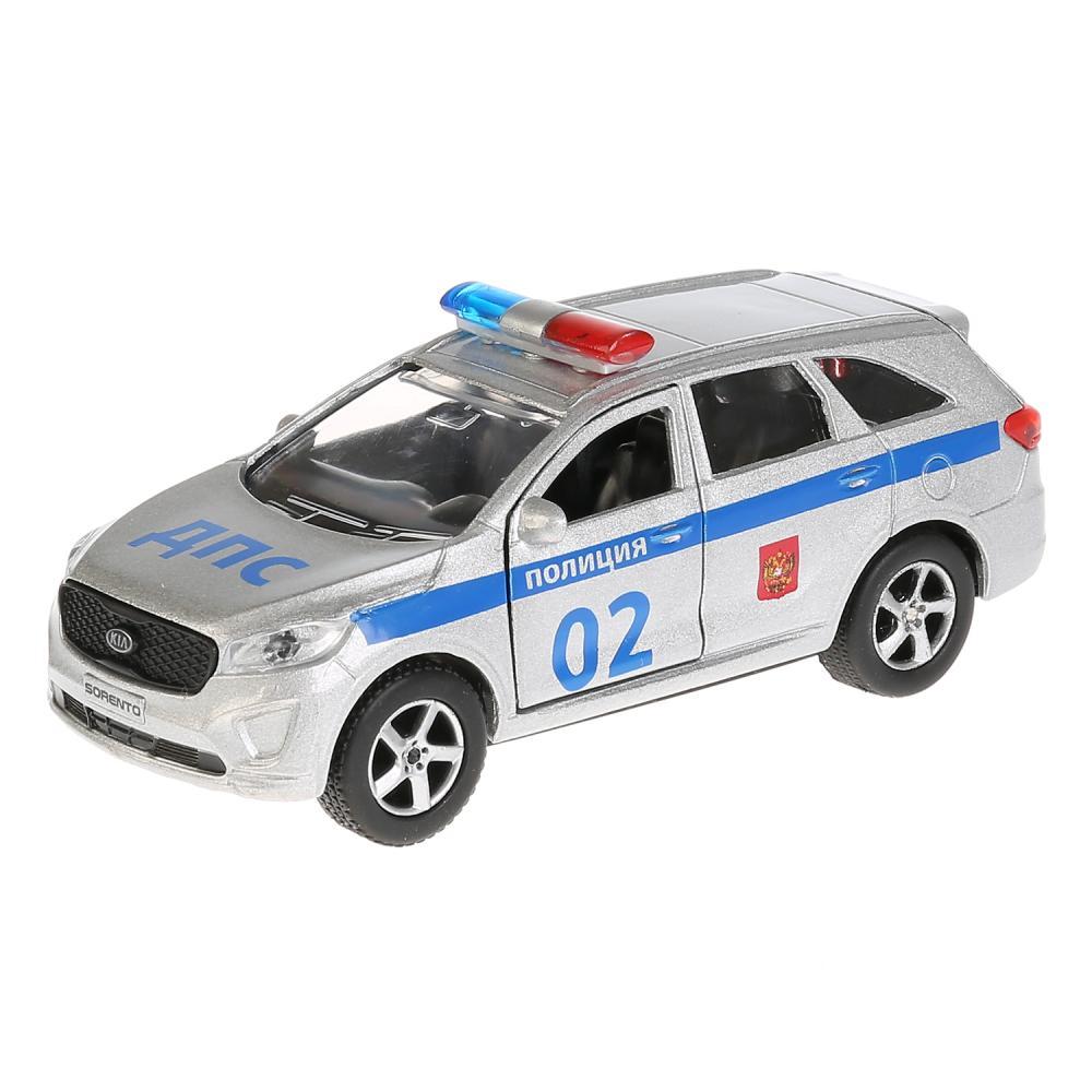 Купить Металлическая инерционная модель – Kia Sorento Prime Полиция, 12 см, Технопарк