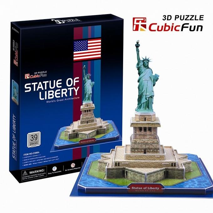 Объёмный пазл США Статуя свободыПазлы объёмные 3D<br>Объёмный пазл США Статуя свободы<br>