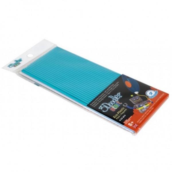 Набор стержней для 3D-ручки 3Doodler Start, синий цвет, 24 шт. - Детский 3D принтер QIXELS, артикул: 173822