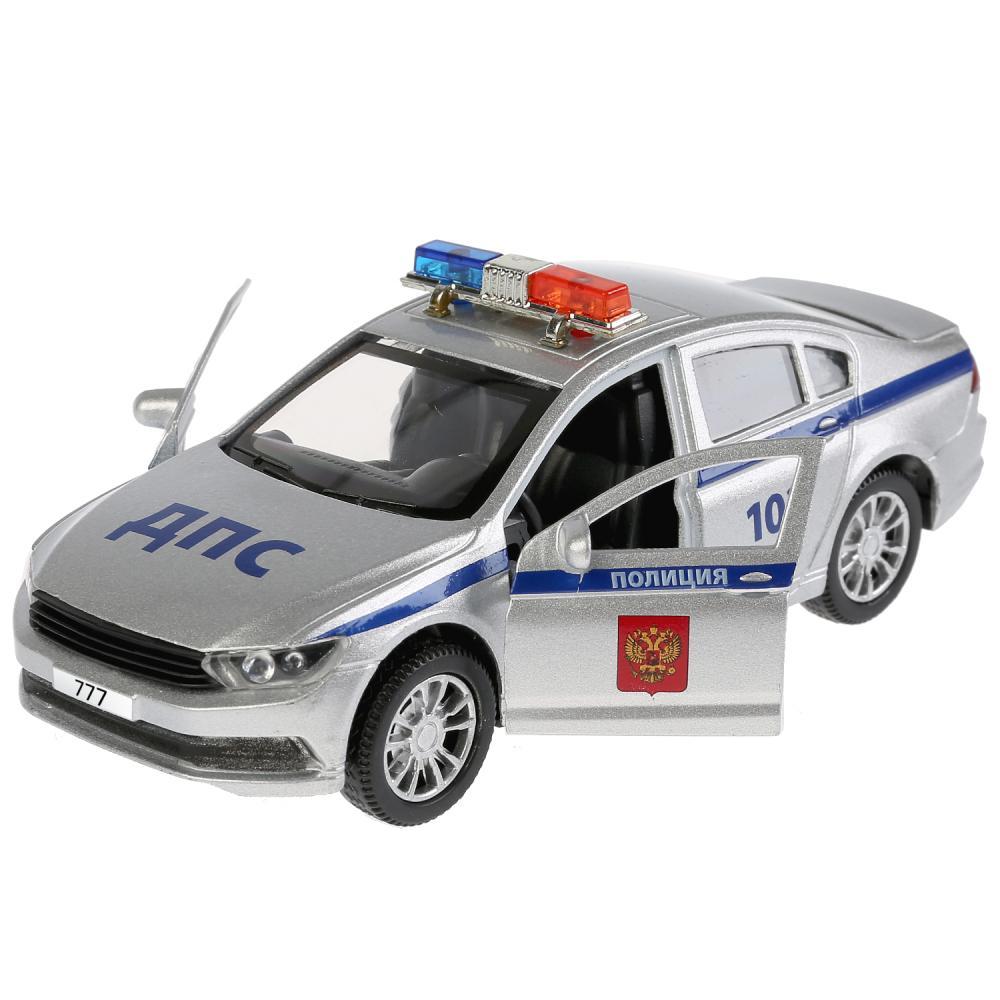 Купить Инерционная металлическая машина – Полиция, 12 см, свет, звук, Технопарк
