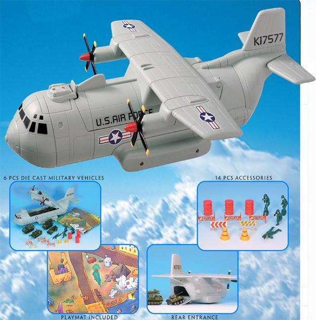 Военный транспортный самолет с аксессуарамиВоенная техника<br>Военный транспортный самолет с аксессуарами<br>