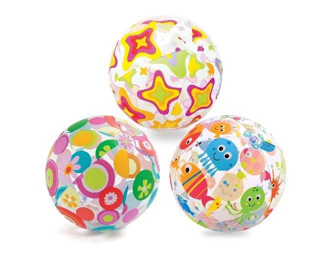 Надувной мяч – Узоры, диаметр 51 см.Надувные животные, круги и матрацы<br>Надувной мяч – Узоры, диаметр 51 см.<br>