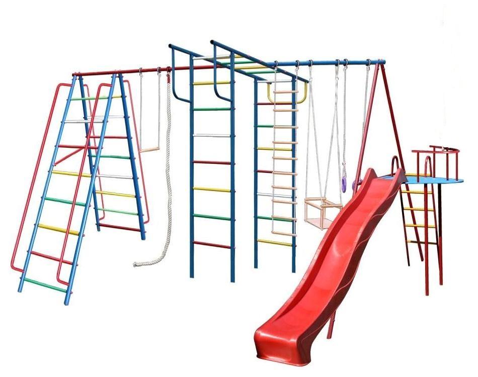 Детский спортивный комплекс Вертикаль-А1+П дачный макси с горкой 3,0 м. + дополнение Моряк