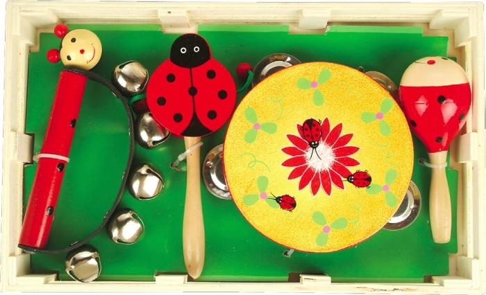 Набор музыкальный №1 — бубен, маракас, бубенцы, игрушка императораМузыкальные наборы<br>Набор музыкальный №1 — бубен, маракас, бубенцы, игрушка императора<br>