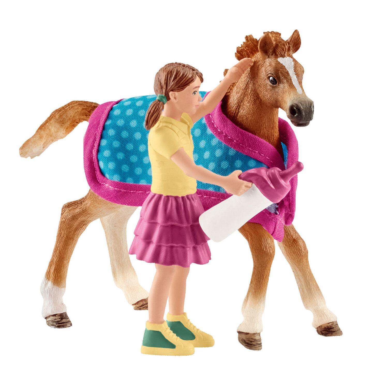 Купить Игровой набор - Жеребенок с одеялом, Schleich
