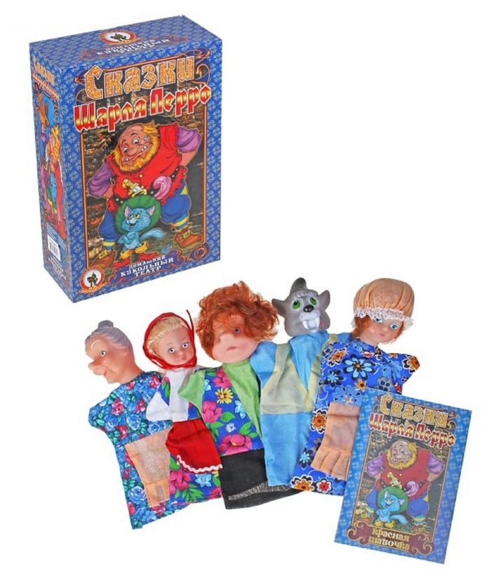 Домашний кукольный театр Красная шапочка, с 5 персонажамиДетский кукольный театр <br>Домашний кукольный театр Красная шапочка, с 5 персонажами<br>