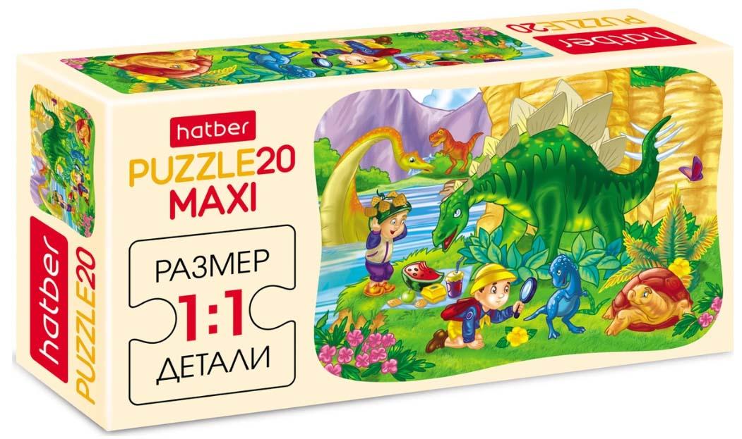 Пазлы Maxi 20 элементов – Пикник с Дино фото