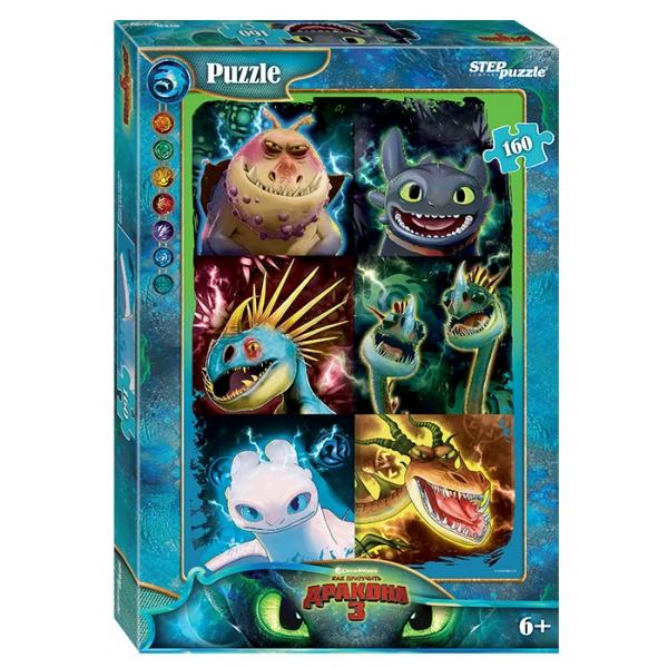 Купить Пазлы – Как приручить дракона-3, 160 деталей, Step Puzzle