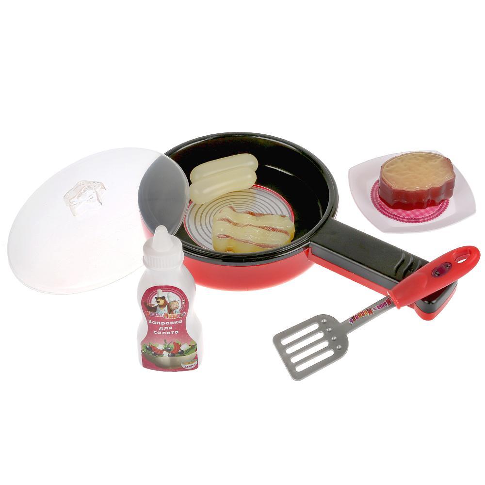 Набор посуды Маша и Медведь - Сковорода с набором продуктов фото