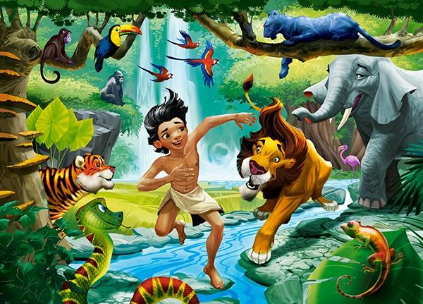 Купить со скидкой Пазлы Castorland – Книга джунглей, 120 midi