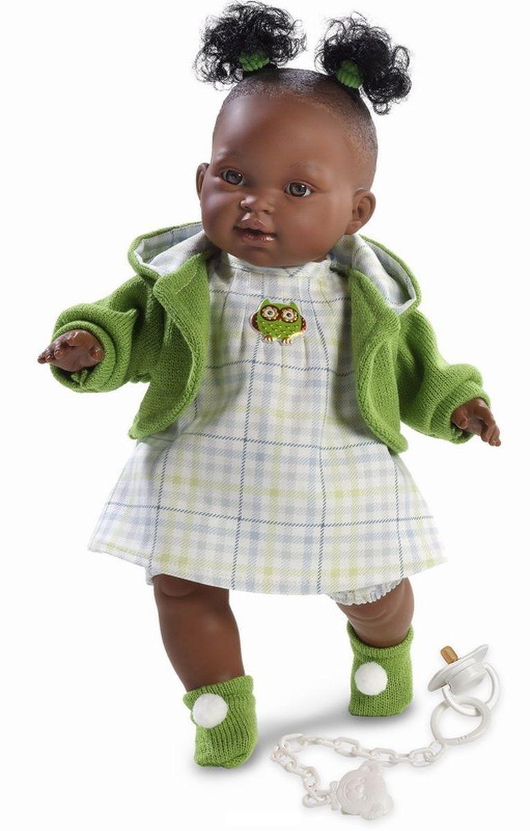 Кукла Эдис в зеленой кофточке, 38 см.Испанские куклы Llorens Juan, S.L.<br>Кукла Эдис в зеленой кофточке, 38 см.<br>