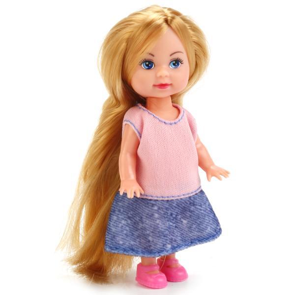Купить Кукла Машенька в модной одежде, 12 см., Карапуз