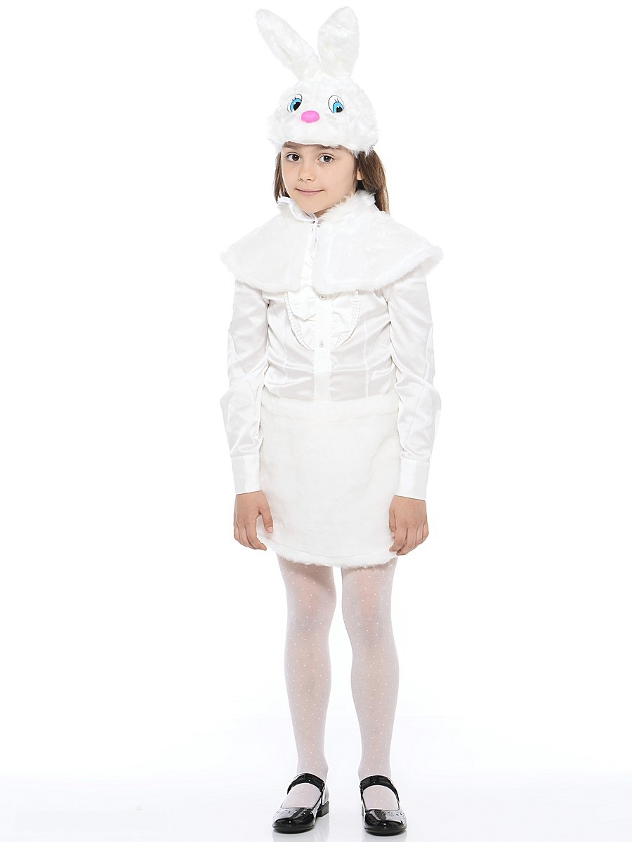 Костюм карнавальный детский – Зайка, мех, размер 28Карнавальные костюмы<br>Костюм карнавальный детский – Зайка, мех, размер 28<br>