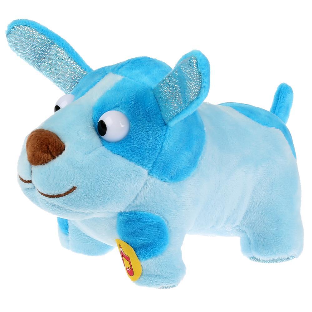 Озвученная мягкая игрушка Деревяшки - Собачка Гав-Гав 15 см.