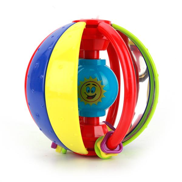 Музыкальная погремушка-шар, сет и звукДетские погремушки и подвесные игрушки на кроватку<br>Музыкальная погремушка-шар, сет и звук<br>