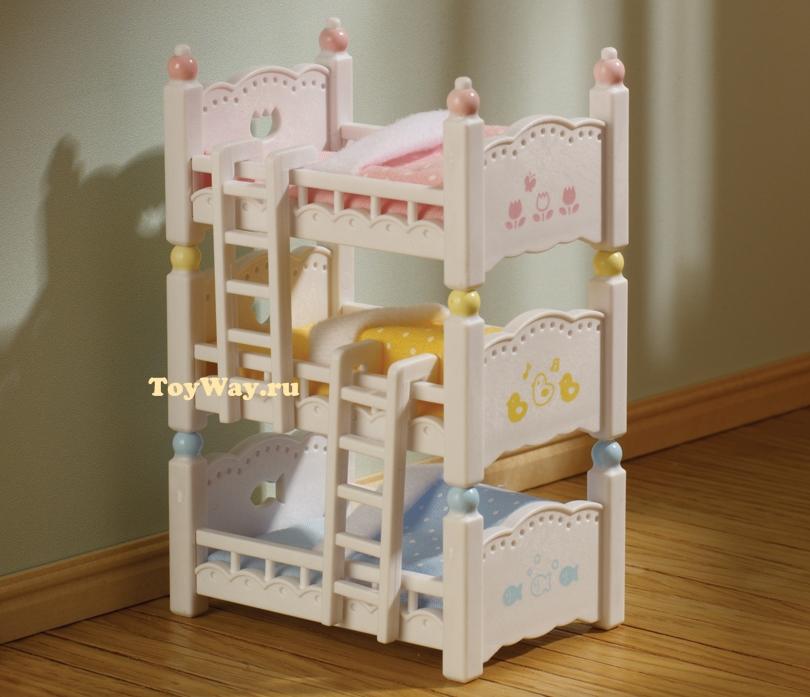 Sylvanian Families - Трехъярусная кроватьМебель<br>Sylvanian Families - Трехъярусная кровать<br>