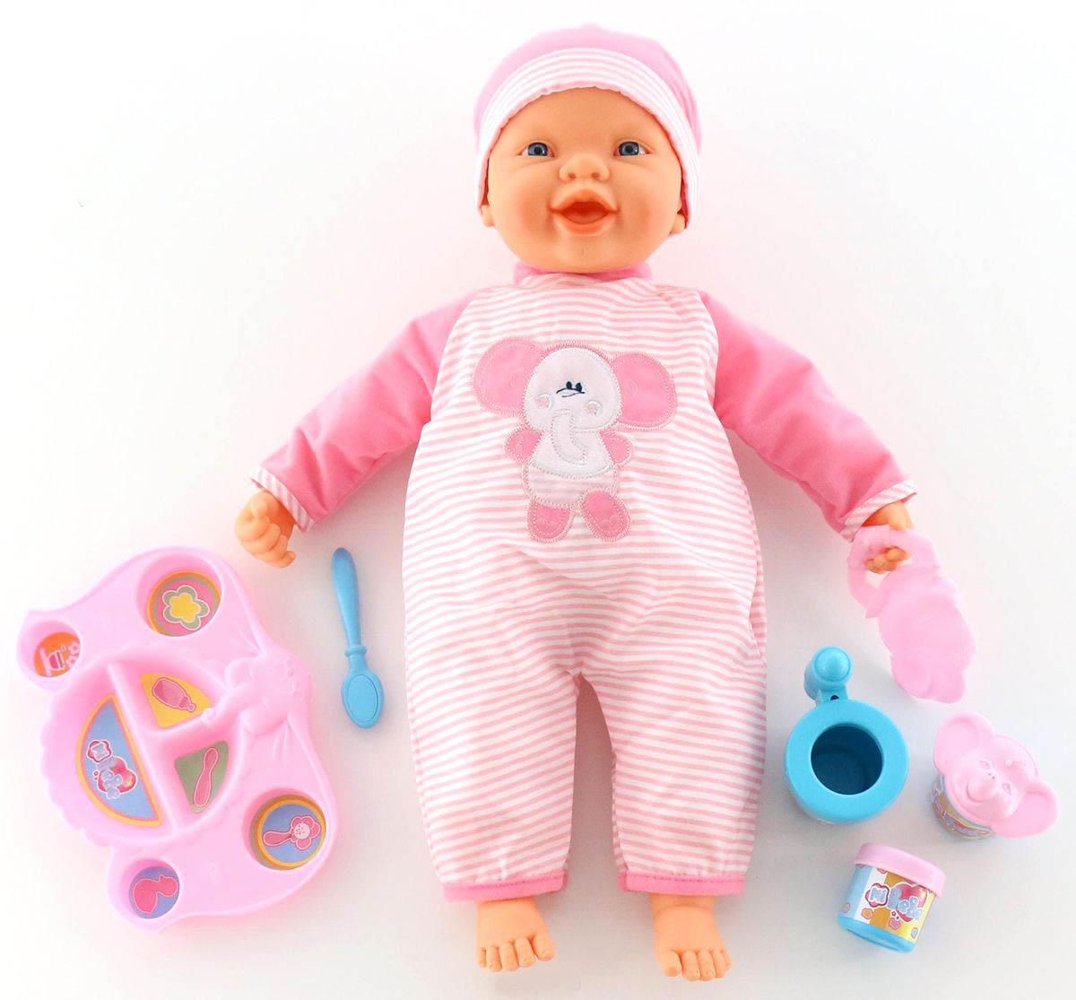 Озвученная кукла Пупс с набором для кормления, 48 смПупсы<br>Озвученная кукла Пупс с набором для кормления, 48 см<br>