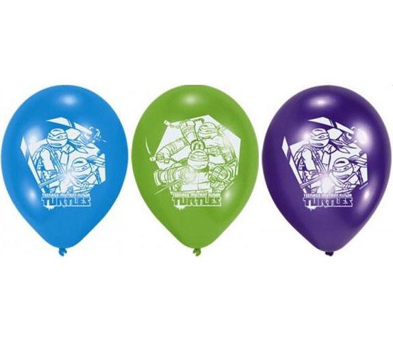 Набор шаров - Черепашки-Ниндзя, 30 смВоздушные шары<br>Набор шаров - Черепашки-Ниндзя, 30 см<br>