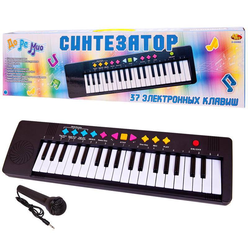 Синтезатор с микрофоном, 37 клавиш, 54 см, ABtoys  - купить со скидкой