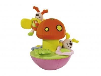 Мягкая игрушка Грибок-неваляшка с 2-мя пчелкамиНеваляшки<br>Мягкая игрушка Грибок-неваляшка с 2-мя пчелками<br>