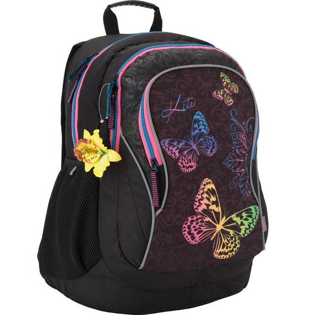 Рюкзак с бабочками и резинкой для волос с цветочком 854 StyleШкольные рюкзаки<br>Рюкзак с бабочками и резинкой для волос с цветочком 854 Style<br>