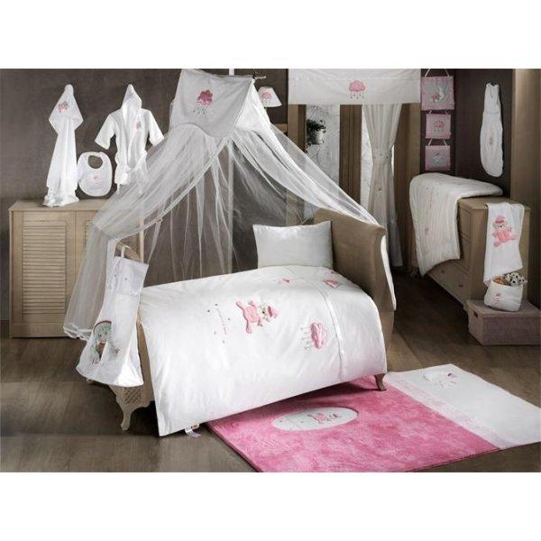 Комплект из 6 предметов - Teddy Boo, розовыйДетское постельное белье<br>Комплект из 6 предметов - Teddy Boo, розовый<br>