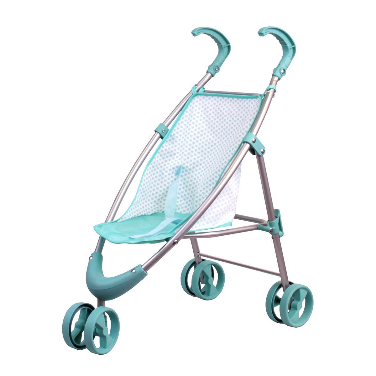 Прогулочная коляска мятнаяКоляски для кукол<br>Прогулочная коляска мятная<br>