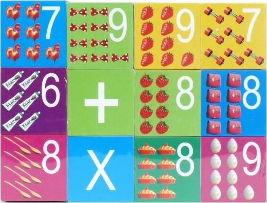 Набор из 12 кубиков «Маша и медведь» с цифрамиМаша и медведь игрушки<br>Набор из 12 кубиков «Маша и медведь» с цифрами<br>