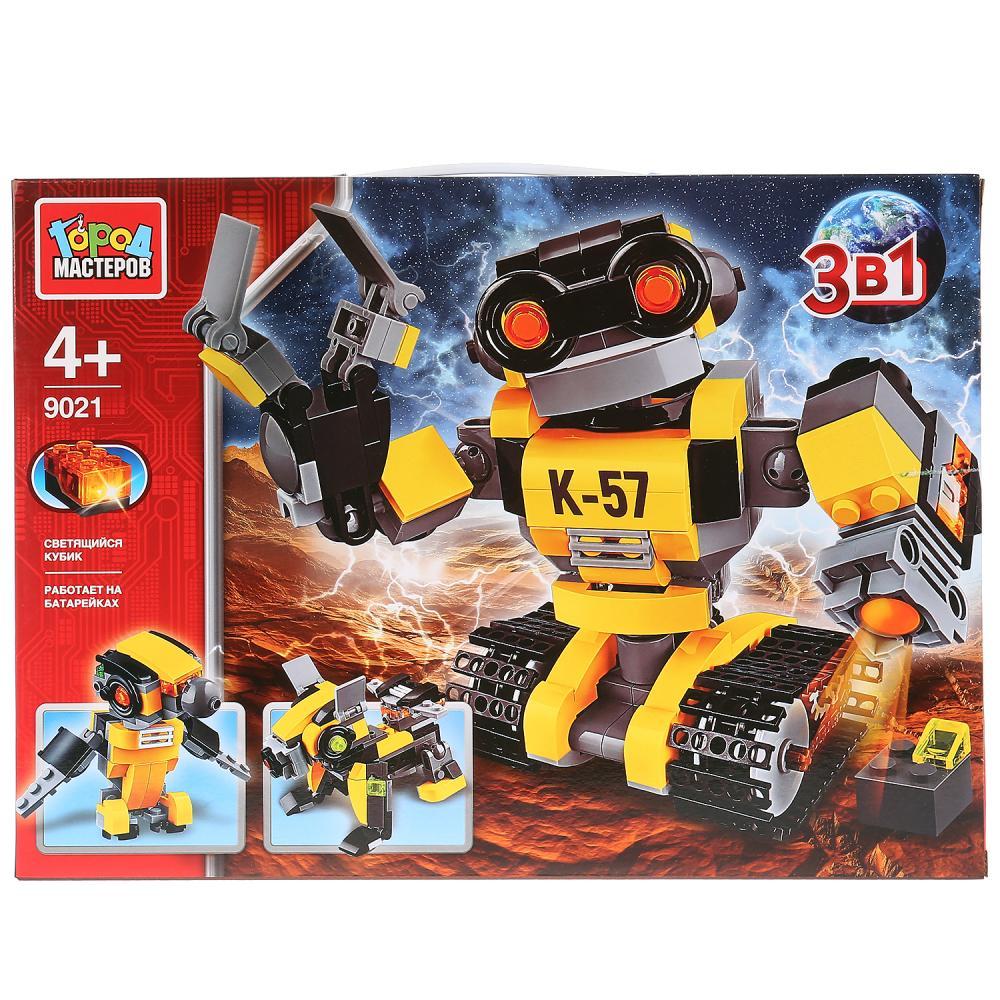 Конструктор – Робот 3 в 1, со светом, 303 детали, Город мастеров  - купить со скидкой