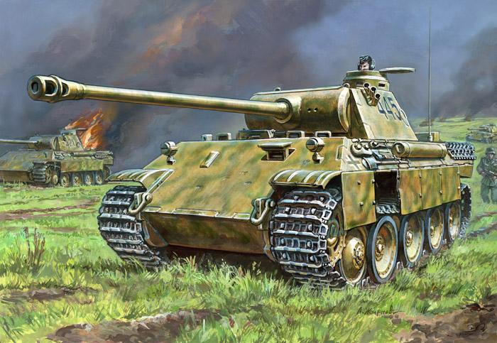 Модель сборная - Немецкий средний танк Пантера T-V Ausf DМодели танков для склеивания<br>Модель сборная - Немецкий средний танк Пантера T-V Ausf D<br>