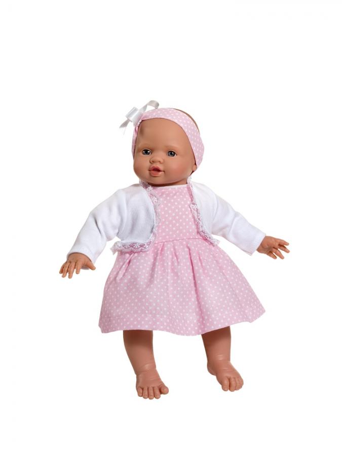 Кукла Popo в платьице в горошек, 36 см.Куклы ASI (Испания)<br>Кукла Popo в платьице в горошек, 36 см.<br>